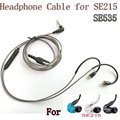 Professiona Ultra High Quality Sterling Earphone Upgrade Cable For Shure SE215 SE535 SE315 SE425 SE846 UE900 Free Shipping
