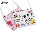 2016 Pequeno Mulheres Messenger Bags PU de Couro Bonito Dos Desenhos Animados Sacos Marca Designer Mini Flap Crossbody Sacos Para Mulher