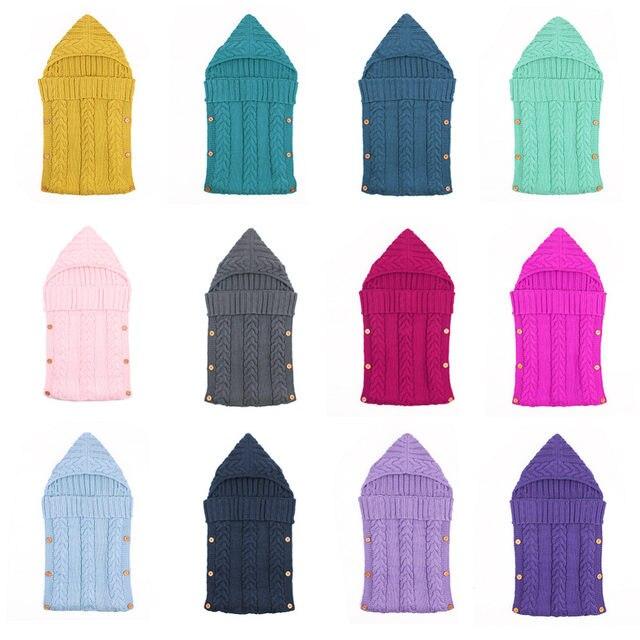 Tienda Online Baby Swaddle Wrap lana caliente ganchillo hecho punto ...