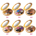 Natural Long-lasting Shine 6-color Eye Shadow Palette Make Up Powder Eyeshadow Brush Cosmetic Tool Golden Box color