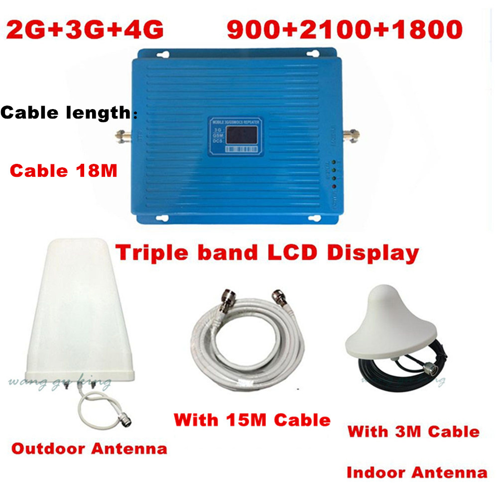 New GSM DCS 3G 3 Bands Repeater GSM 900Mhz DCS1800Mhz WCDMA 2100Mhz Booster,Triband Booster Triband Repeater 3 Bands Booster