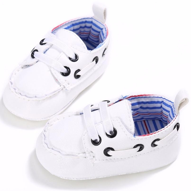 Baby Shoes Double Elastic Band Newborn Slip On Leather Crib Soft Sole Shoe Chaussure Enfant