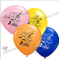 Free Shipping 12pcs/lot Super Wings Theme Latex Balloon  Birthday Party Decoration Balloons Kids Toys