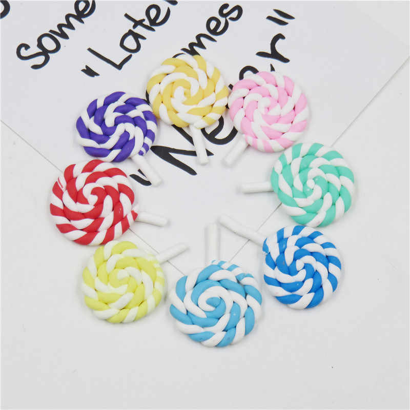 1PCS Dazzling Rainbow Lollipop WITHOUT CLIP Girl Hair Accessory Bow For DIY Headdress Semi-finished Products 2019 Accessories
