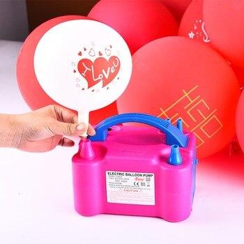 Agujero doble AC inflable eléctrica bomba para inflar globos globo de aire portátil bomba de soplador de aire de Reino Unido UE nos enchufe 220 V/110 V