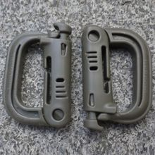 2Pcs Molle Tactical Backpack EDC Shackle Carabiner Snap D-Ring Clip Backpack Locking Travel Kit