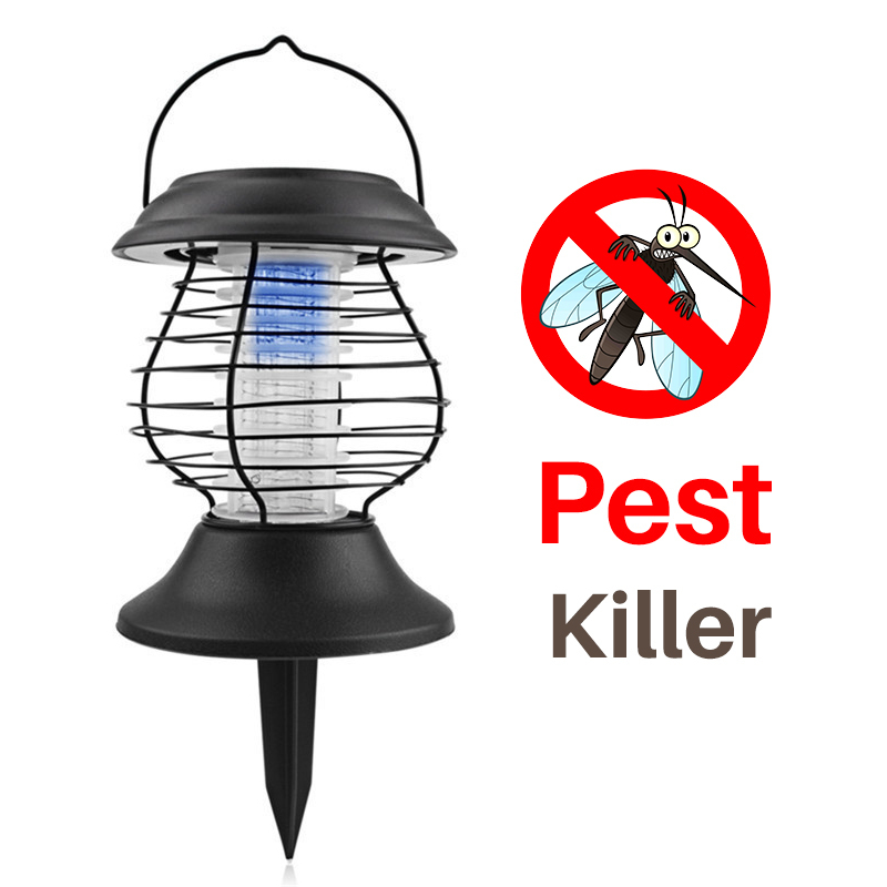 LED Solar Mosquito Killer Lamp Stainless Steel Solar Lawn Light Insect Killer Lamp Pest Control Outdoor Garden Landscape Light akdsteel solar mosquito killer lamp waterproof light sensor solar powered high quality led mosquito killer lamp decoration