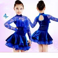 2018 Children S Latin Dance Costumes New Girls Children S Latin Dance Performances Contest Service Regulations