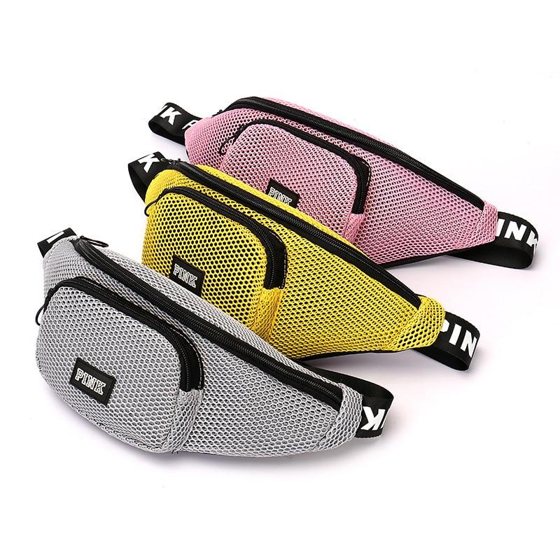 LXFZQ New Waist Bag Travel Wallet Hip Bag Unisex Fanny Pack Chest Bag Heuptas PINK Holographic Belt Pouch Bolsas Feminina