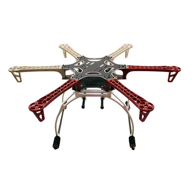 FPV F550 Hexa Quadro Braço HexaCopter Placa PCB com Trem De Pouso Cardan Bateria Protetor para Flamewheel F550 HJ550 Quadcopter