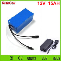 10PCS/LOT DC 12v 15a rechargeable li ion battery for 12v DC motor with charger