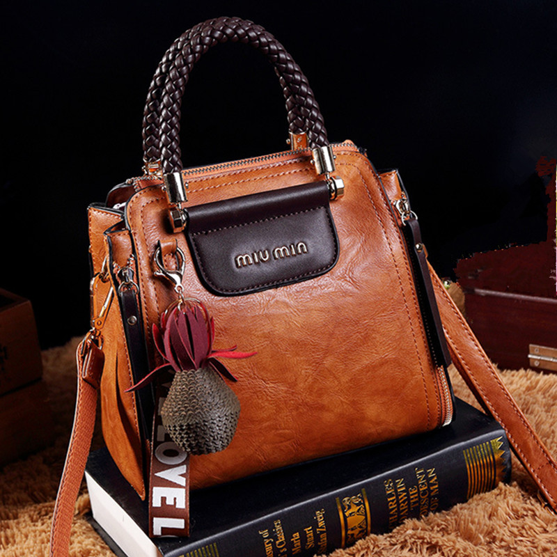 Europe fashion shoulder bag high quality PU leather handbag