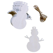 10pcs Christmas Tree Snowman Wooden Pendants Ornaments Party Decorations Xmas for Home Decoration