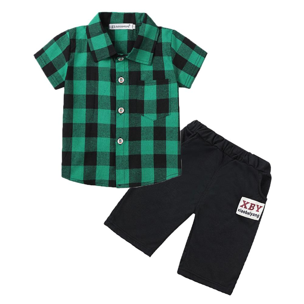 Newborn Clothes 2019 Summer Baby Boys Clothes Set T-shirt+Shorts 2pcs Baby Outfit Sport Suit For Baby Boys Sets Infant Clothing