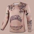 2016 Comando Suicida hombres Compresión Camiseta Harley Quinn Joker Deadshot Tatuaje camiseta de Impresión de Manga Larga Trajes de Batman