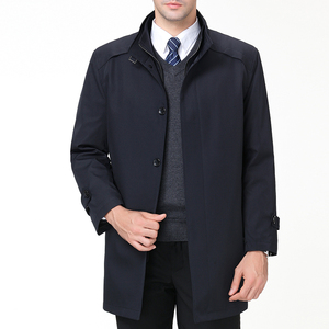 Image 3 - Chaquetas informales para hombre Mu Yuan Yang, primavera y otoño, gabardina larga para hombre, novedad de 2018, gabardinas y chaquetas con cremallera