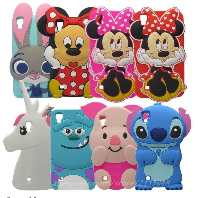 9453d707085 Para fundas LG x style case 5.0 pulgadas de lujo 3D conejo de dibujos  animados Minnie