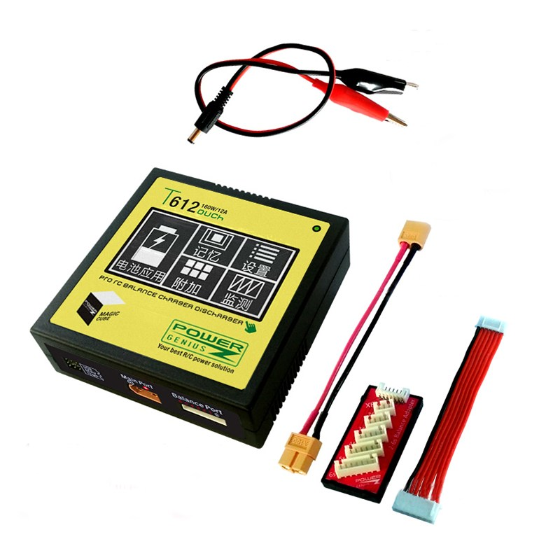 Hot New Power Genius PG T612 160W 12A Battery Balance Charger Touch Screen Support 4.35V 4.4V LiHV For RC Models new ea7 s6c rc touch screen