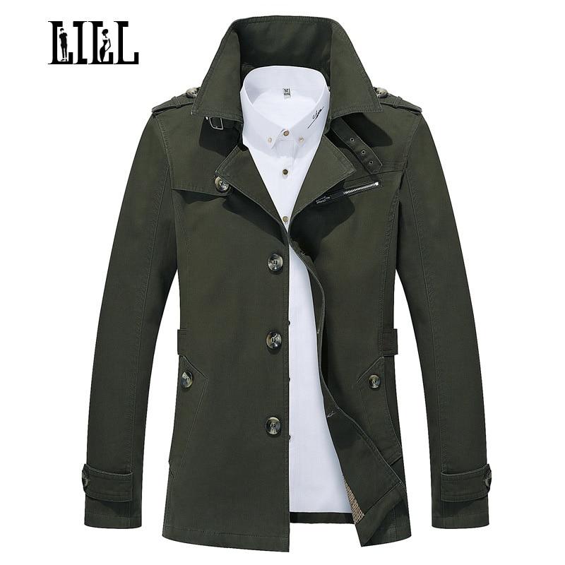 거짓말 | 새로운 순수 코튼 망 캐주얼 재킷 남자 패션 봄 재킷의 가을 트렌치 코트 군대 그린 스타일 남성 재킷, UMA439
