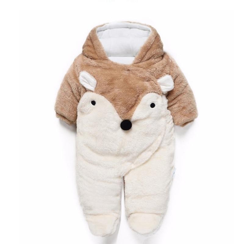 Winter Baby Romper Noworodek Ubranka z długim rękawem polar - Odzież dla niemowląt - Zdjęcie 1