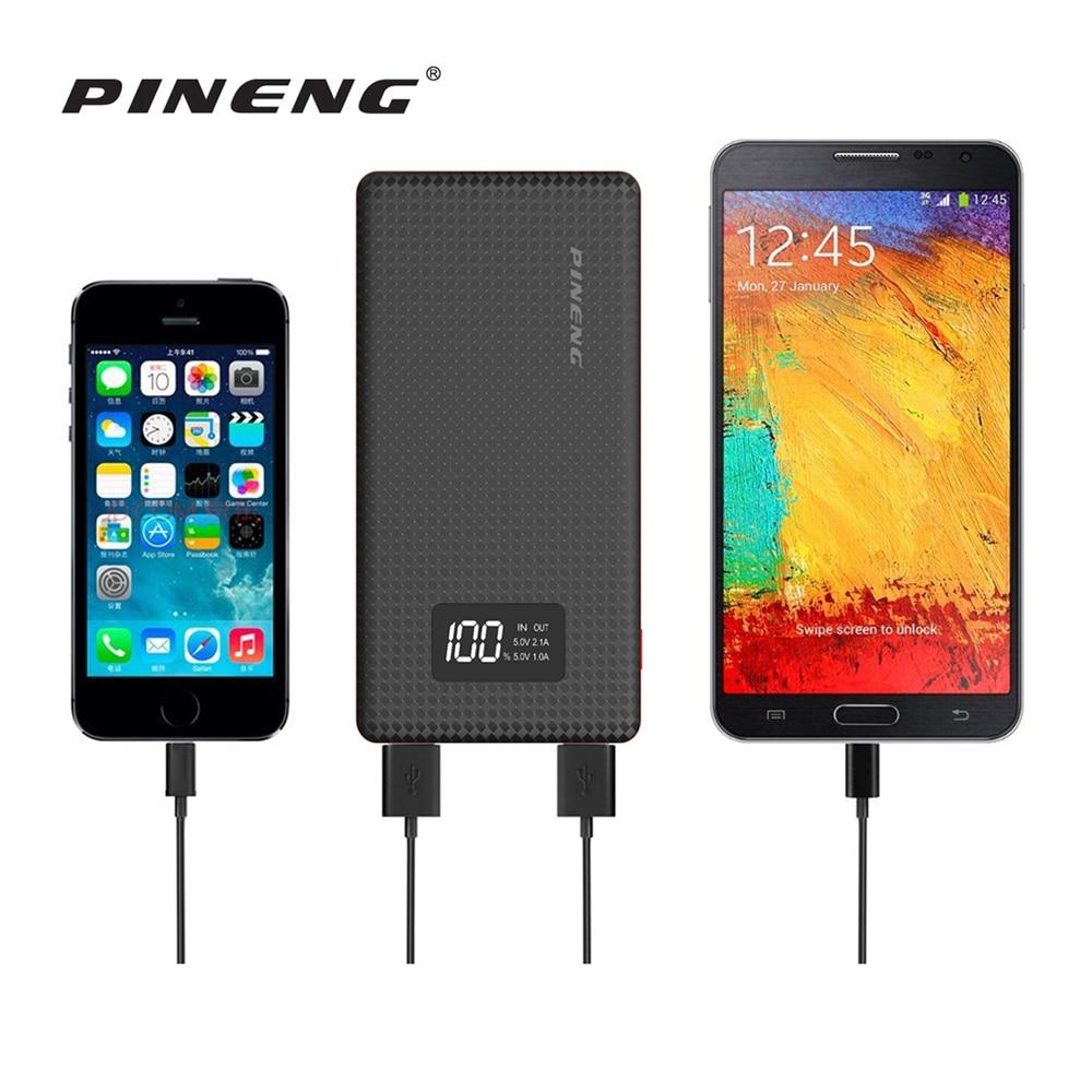 imágenes para NUEVA Original PINENG 10000 mAh Banco de Potencia Ultra Delgado Cargador de Batería Externo Portable para el iphone y Otros Teléfonos Inteligentes