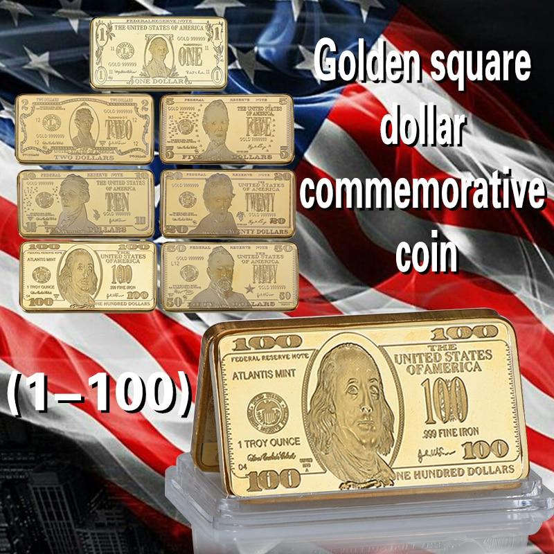 WR American One Million Money 24K Gold Banknote 999.9 Vergulde Bar Metal Crafts met Plastic Capsule Collectie Coin