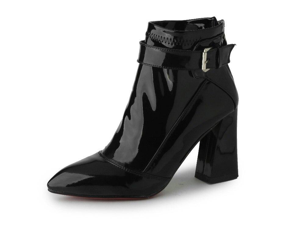 fe6abb451dd5 Schöne Elegante Frauen Stiefeletten Sexy Spitz Platz Heels Stiefel Stilvolle  Schwarz Wein Rot Schuhe Frau UNS Größe 4 12 in Schöne Elegante Frauen ...