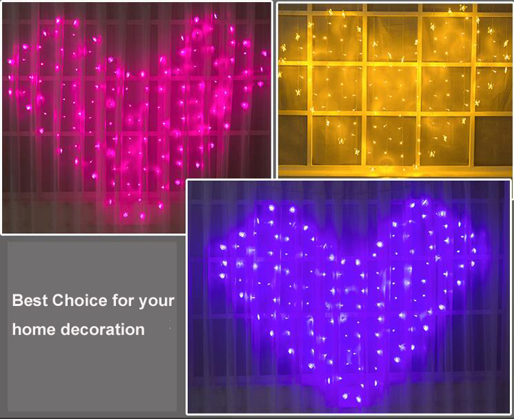 Xmas Decoration Colorful String Light Wedding Bedroom Butterfly Curtain Lights Decoration Festive Color Lights Cristmas lights