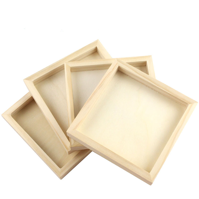 1pc Nine Puzzle Six-sided 3D Jigsaw Cubes Puzzles Children Tray Wooden Storage Toys Accessories Kids Educational Funny Games