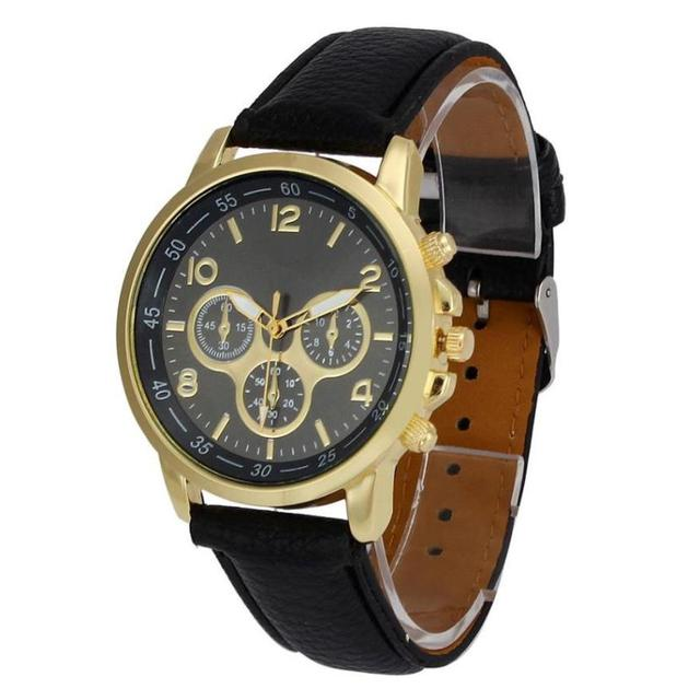 2018 Fashion Wrist Watches For Lovers Unisex Casual Geneva Faux Leather Quartz A