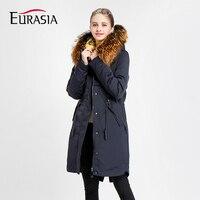 Ukraine Zipper Hot Sale Full 2018 Women Winter Jacket Stand Real Fur Collar Hooded Design Warm Practical Coat Parka Y170033