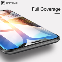 CAFELE Full Cover Screen Protector for Xiaomi mi8 Tempered Glass 4D HD Clear Protective MI 8 Anti Scratch Film