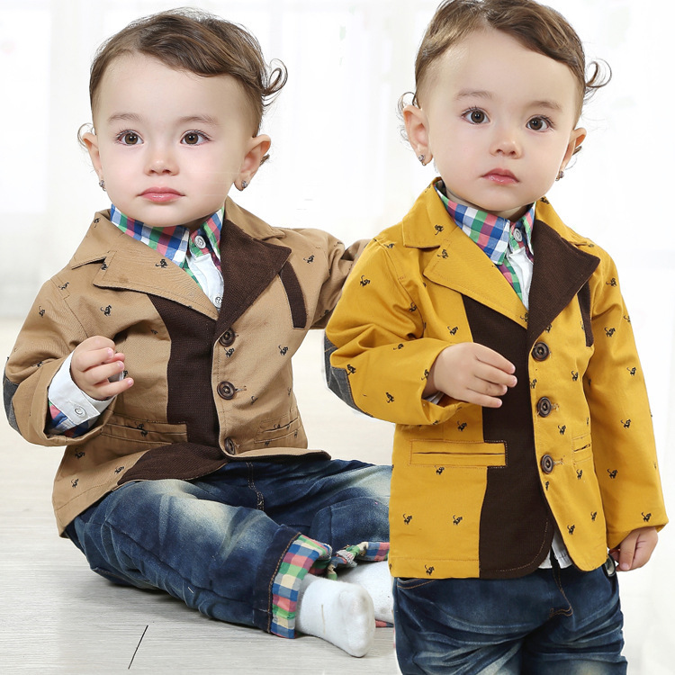 ФОТО Anlencool New Spring Valley posture infant casual three-piece New Elvis baby clothing newborn brand baby boy clothes set