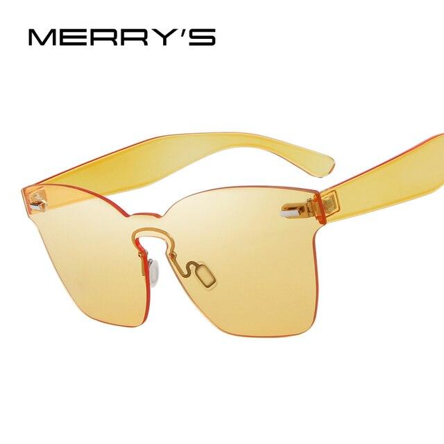 Merry's eyewear doce cat eye sunglasses moda mulheres integrado s'8087