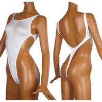 Free shipping new sexy Thong One Piece Swimwear Backless High Slit Swimsuit G String Women summer Bathing Suits Bodysuits