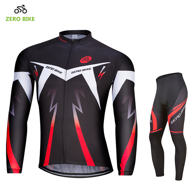 Zerobike 2017 nuevos hombres Ciclismo Jersey bike profesional transpirable cremallera completa Ciclismo ropa m-xxl
