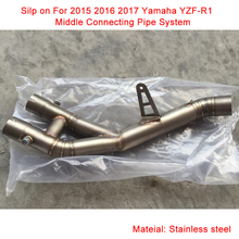 60.5MM Stainless Steel Pipe Exhaust Silencer Exhaust Tubulation Middle Section Modified Motorcycle For Yamaha R1 yamaha gyt 0ss56 32 81 gytr fmf racing 2 stroke titanium exhaust silencer for yamaha yz85