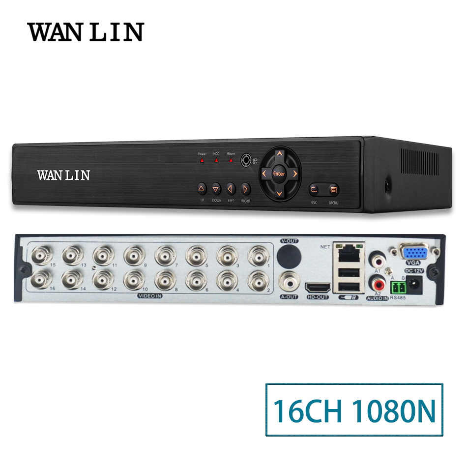 WANLIN 5in1 16CH CCTV 1080N XVR DVR NVR Hybrid Digital Video Recorder P2P Cloud Support 1080P