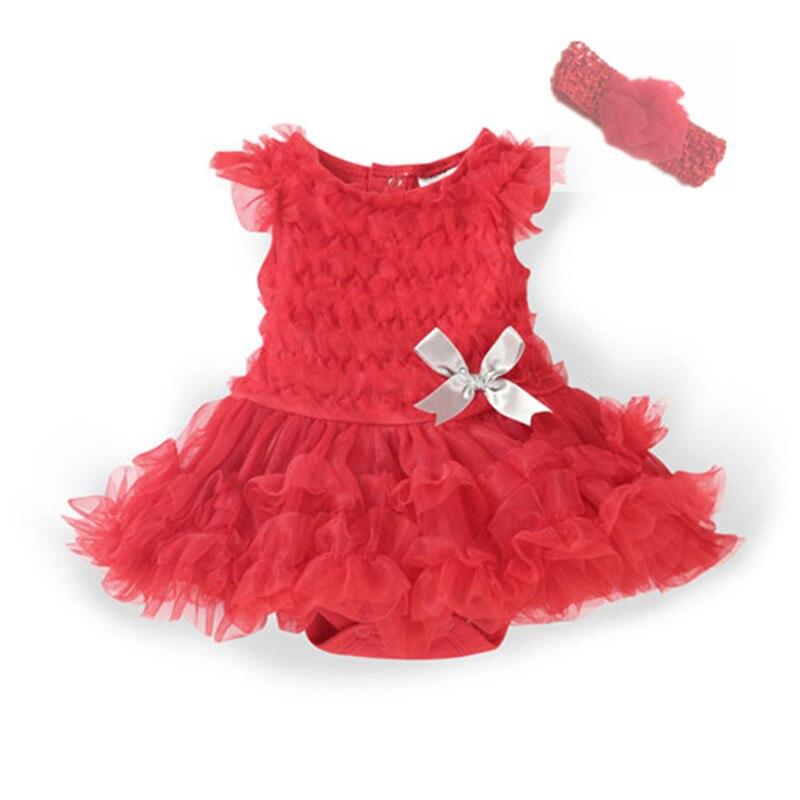 Summer Baby Girl Dress Clothes Bow Infant Tutu Party Dresses & Headband 2 Piece Kids Girls Clothing Set