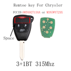 315Mhz Keyless Remote Entry Key Fob Fit For Dodge Jeep Chrysler 2005-2012 3+1 Buttons For Chrysler OHT692427AA or M3N5WY72XX