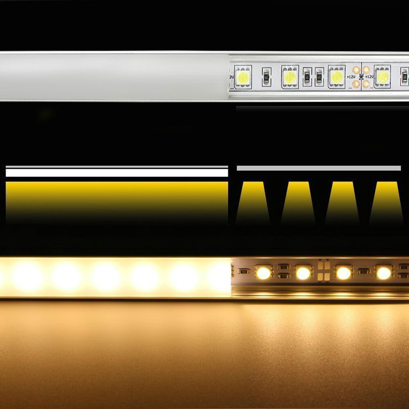 0 5m 1m led aluminum profile for led strip bar 5050 5730 aluminum channel housing with cover corner connector extend joint in LED Strips from Lights Lighting