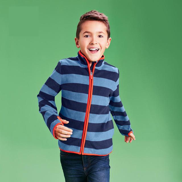 Nuevo 2016 otoño niños niños con capucha de marca sudaderas muchachos de las muchachas de los bebés niñas rayas de lana chaquetas y abrigos