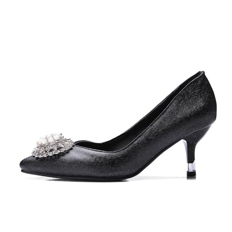 Perle 2018 Femme Populaire Classique Chaussures Mode Respirant Solide Avec Pompes Purple pink Nouveau Design Couleur De dark Stylesowner Stiletto Black Souple vIdnwqgg