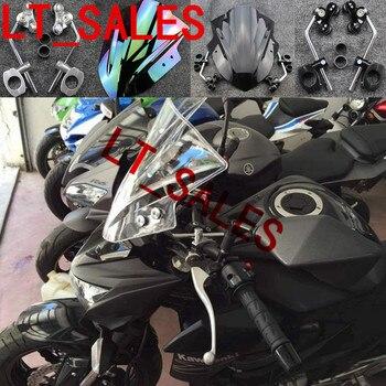 NEW Motorcycle Clear Windshield Windscreen Double Bubble Wind Deflectors For KAWASAKI Z250 Z750 Z800 Z1000 DUCATI YAMAHA HONDA