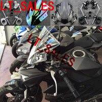 NEW Motorcycle Clear Windshield Windscreen Double Bubble Wind Deflectors For KAWASAKI Z250 Z750 Z800 Z1000 DUCATI