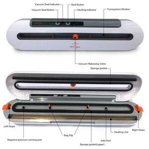 Image 3 - Domowe urządzenie do szczelnego pakowania żywności pakowarka z 10 sztuk torby Free 220V 110V automatyczna handlowa najlepszy próżni, zgrzewarka spożywcza Mini