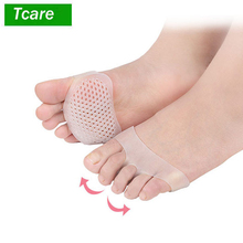 цена на 1Pair Metatarsal Pads Gentee Breathable Ball of Foot Pain Relief Cushions, Soft Gel Forefoot Pads Protect Callus Blisters