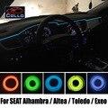 9 Metro Um Conjunto Fio EL/Para SEAT Alhambra/Altea 4 XL/Toledo/Exeo/Carro Flexível Neon Luz Fria/Console Decorativo Tira