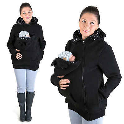 f87f599ebbd ... Baby Wearing Fleece Jacket Winter Maternity Warm Outerwear Womens  Pregnant Kangaroo Coat Baby Carrier Wear ...