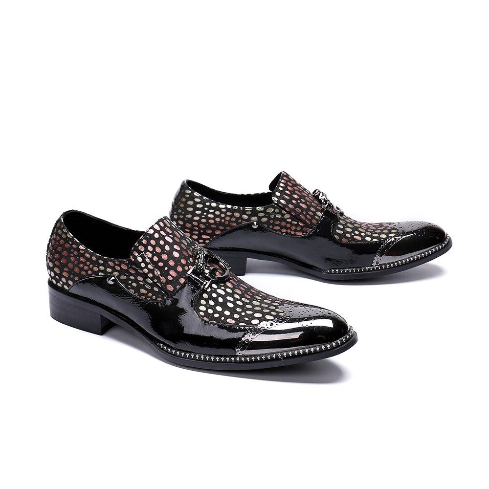Negocios Hombre Vestir Boda De Para Fiesta Bullock Negro Bella Zapatos Formal Cuero Christia Hombres Británica Oxford Los Genuino XwzqaWR6x
